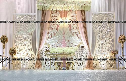 White Theme Wedding Fiber Panel Backdrops