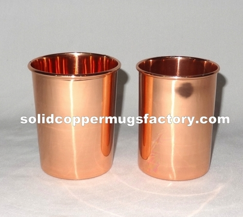 Solid Copper Water Glass