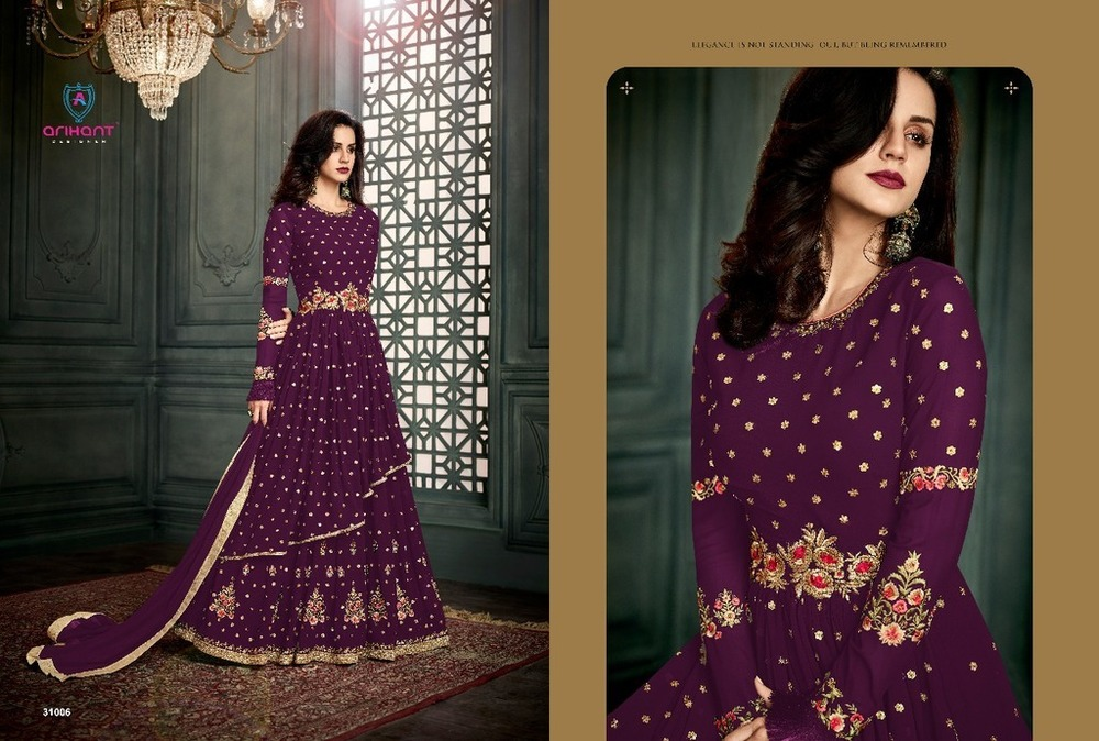 Embroidered Georgette Anarkali suits