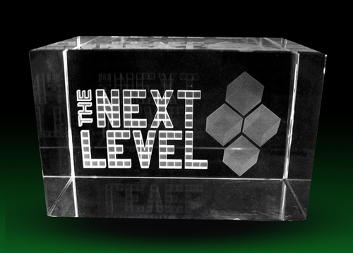Text In 3D Crystal Cube