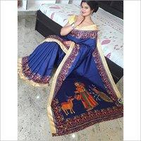 Designer Bhagalpuri Silk Saree