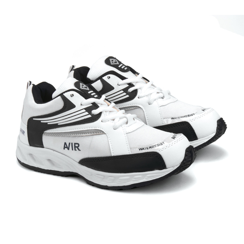Mens White & Black Sports Shoes