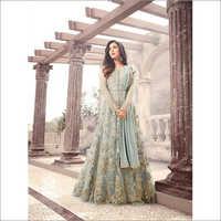 Ladies Embroidered Work Floor Length Anarkali Suit