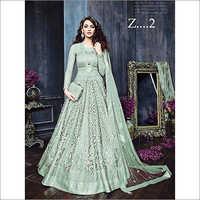 Ladies Net Designer Floor Length Suit