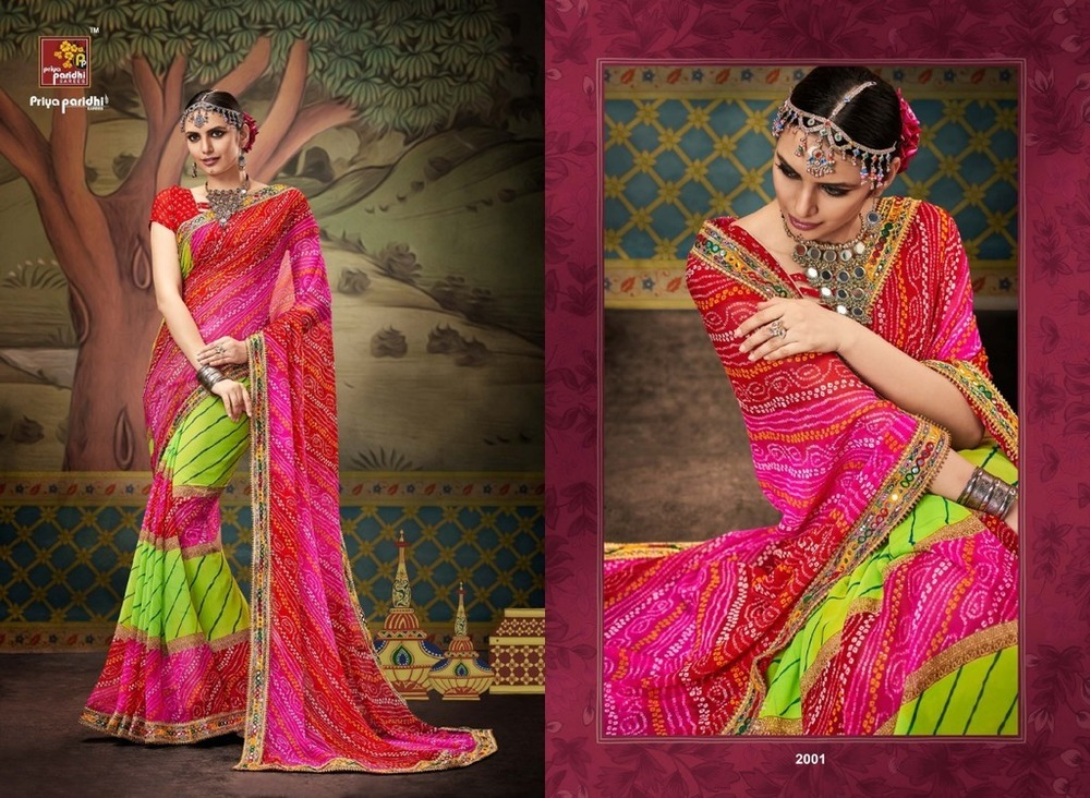 Traditional bandhej sarees online shopping