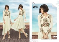 Beautiful Embroidery Work Kurtis