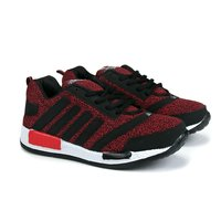 Mens Red & Black Sports Shoes