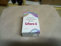 Ceftriaxone1Gm+Sulbactam500 mg Vial+WFI Pack
