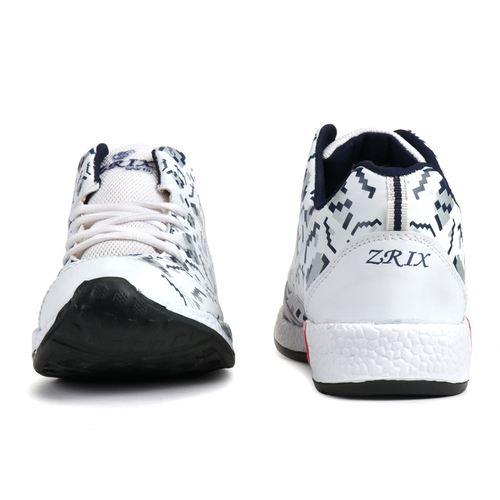 Mens White & Blue Sports Shoes