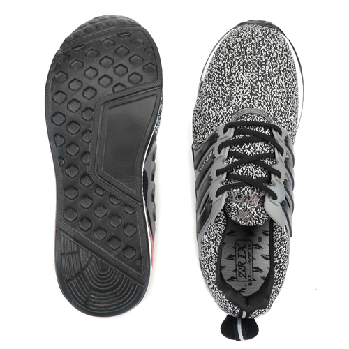 Mens Grey & Black Sports Shoes