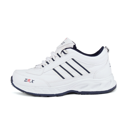 Mens White & Blue Shoes