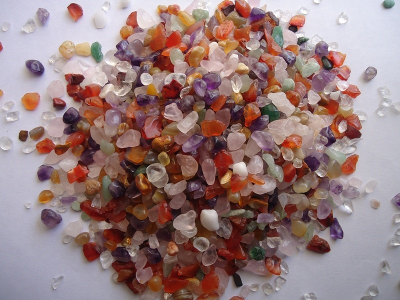 Export Mix crushed agate polished chips for aquarium