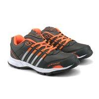 Mens Grey & Orange Shoes