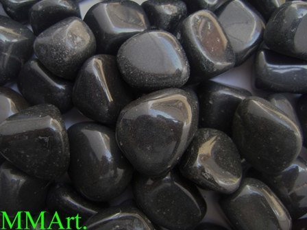 High Polished Black Pebble Stone