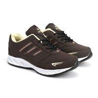 Mens Cream & Brown Shoes