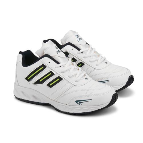 Mens White & Blue Shoes
