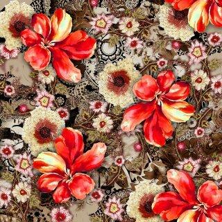 rayon digital print fabrics