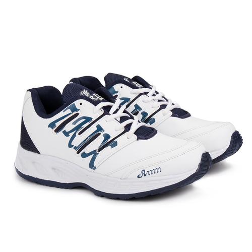 Mens White Blue Shoes