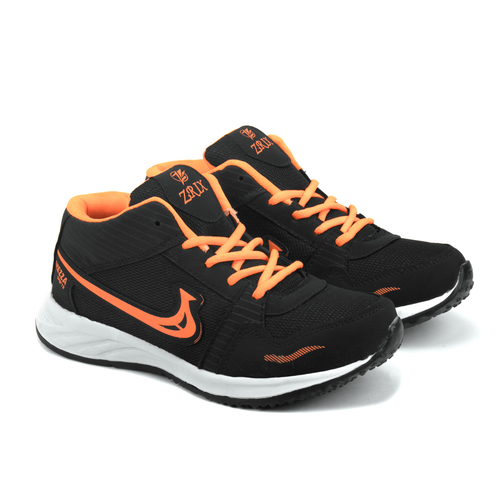 Mens  Black & Orange Shoes