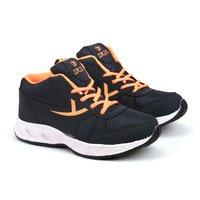Mens Navy Blue & Orange Shoes