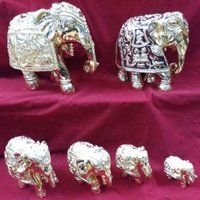 gold and silver plated elephant