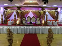 Peacock Jali Wedding Mandap