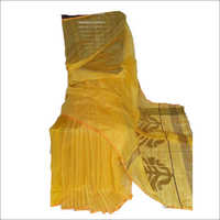 Yellow Handloom Silk Saree