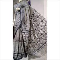 Designer Tussar Silk Saree