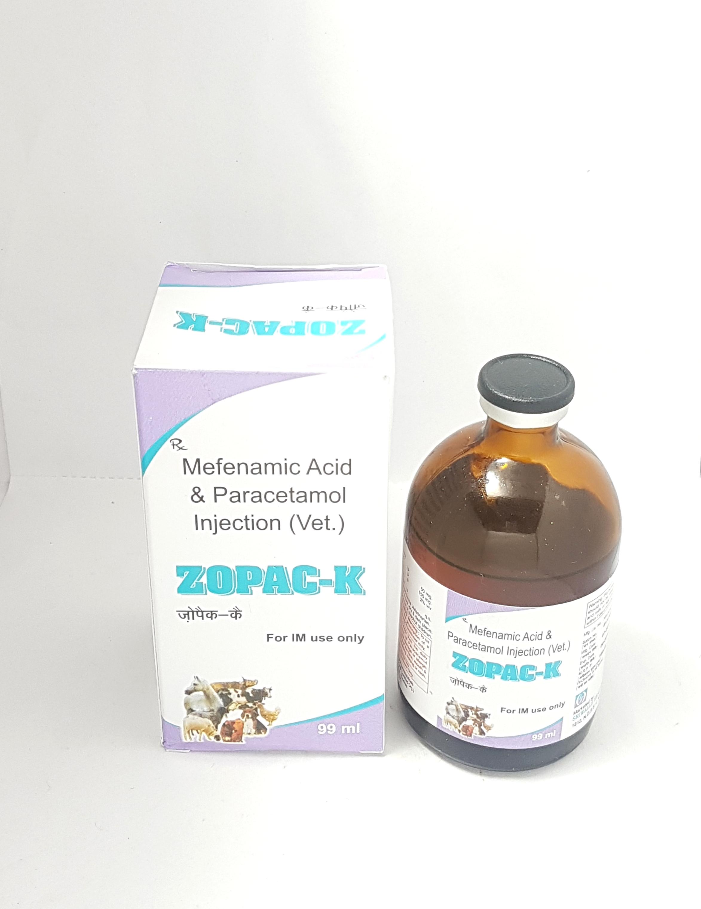 Mefenamic Acid & Paracetamol 99 mL Injection
