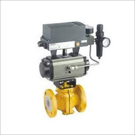 PTFE Lined Ball Valve with Rotary Actuator