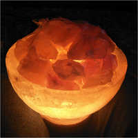 Firebowl with Chunks Rock Salt Lamp