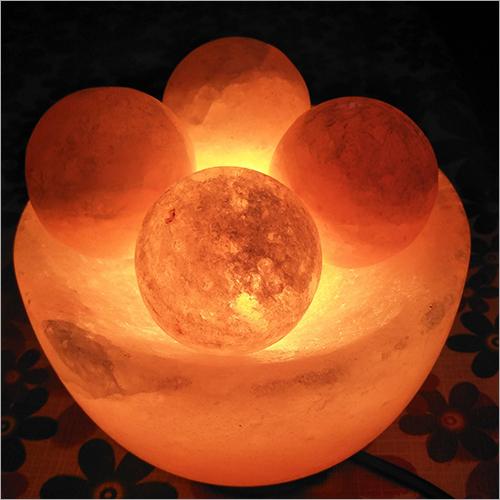 Firebowl with Ball Rock Salt Lamp