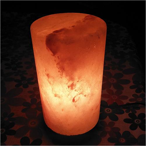 Cylinder Shaped Rock Salt Lamp