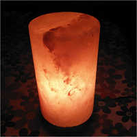 Cylinder Shaped Rock Salt Lamp