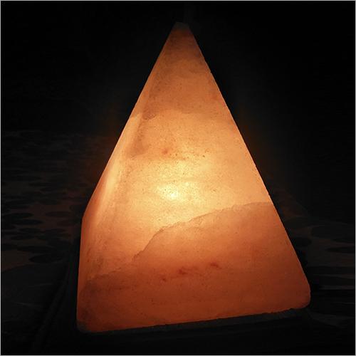 Pyramid Rock Salt Lamp