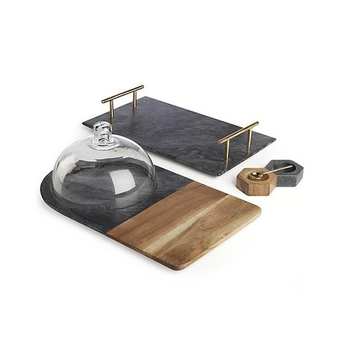 Chopping Board and Marble Tray set