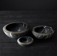 Marble and Brass Decorative Serve ware