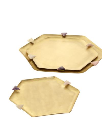Brass Trays & Bowls Set