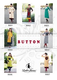 Designer Button Kurti