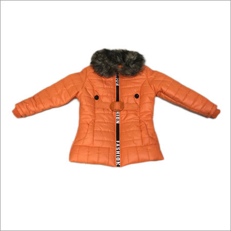 Girls Jacket With Fur Collar