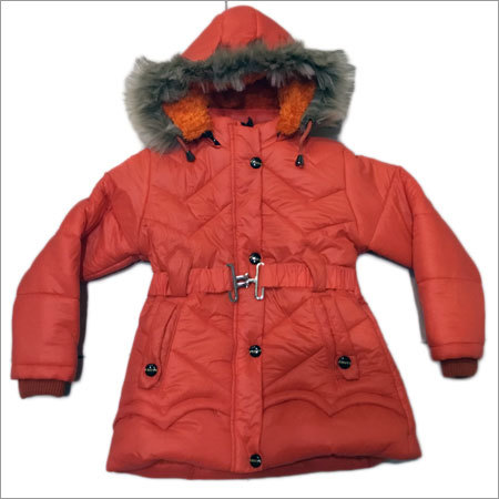 Girls Jacket With Fur Hood