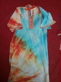 Ladies Tie Dye Print Kurta