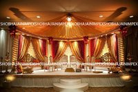 Spiral Pillar Wedding mandap