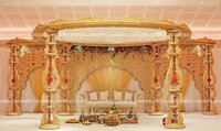 Temple Pillar Wedding Mandap