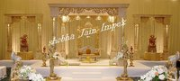 Triple Pillar Wedding Mandap