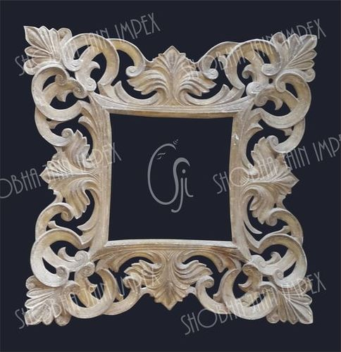 Carved Indian Wedding Fiber Frame