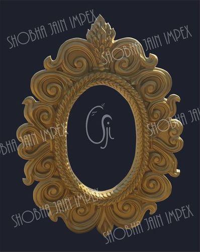 Oval Floral Wedding Fiber Frame