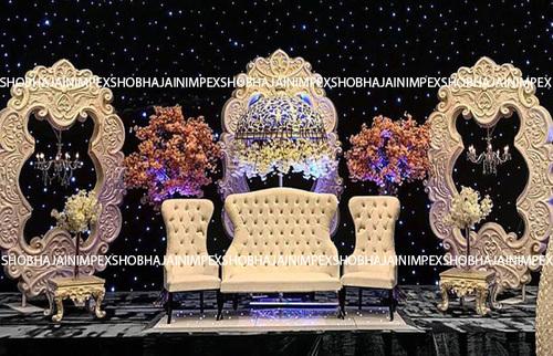 Carved Designer Wedding Fiber Frame