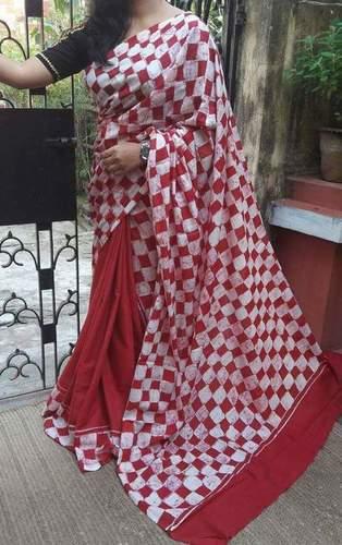 Pure cotton Mulmul Batik Saree
