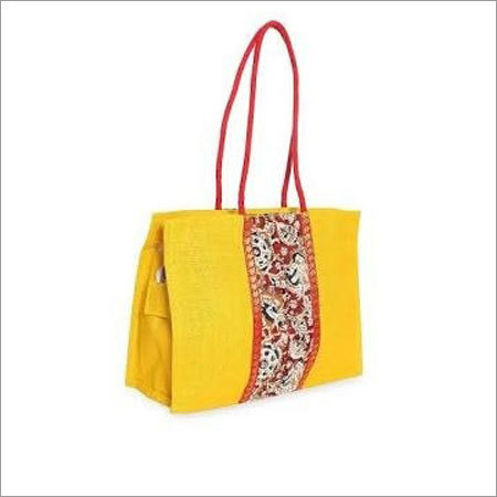 Jute Yellow Handbags